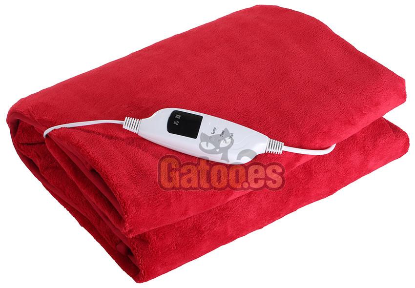 Manta Electrica Con Temporizador.Manta Electrica Doble Ardes Roja Medidas 160 X 130