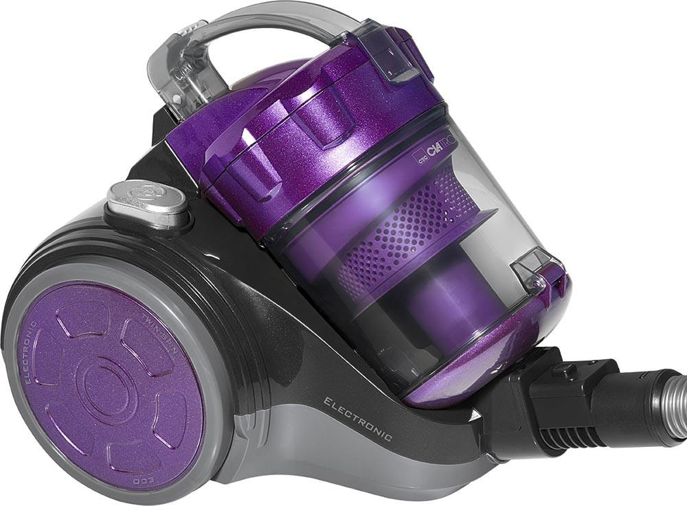 Aspirador sin bolsa Cyclon superior de Clatronic violeta