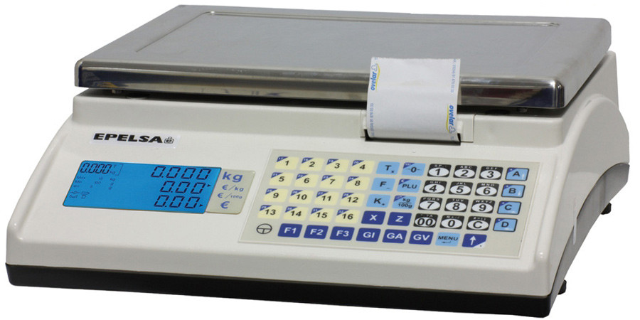 Balanza Comercial Profesional Plana MARTE ILC. Ticket, Etiqueta, Conexión TPV y Registradora