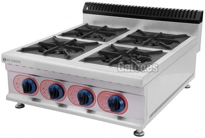 Cocina de Gas Industrial de 4 Fuegos GE4