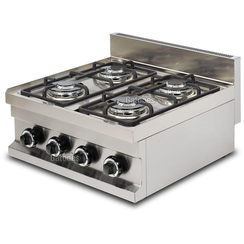Cocina de Gas Industrial de 4 Fuegos