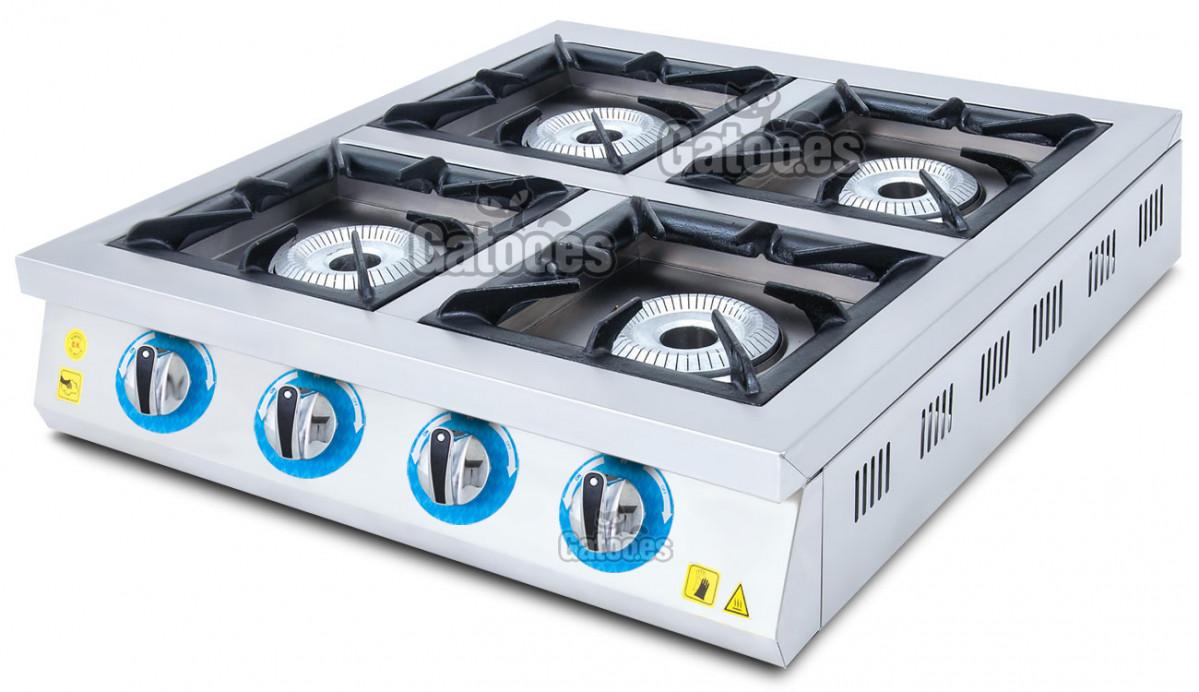 Cocina de Gas Industrial de 4 Fuegos GM4
