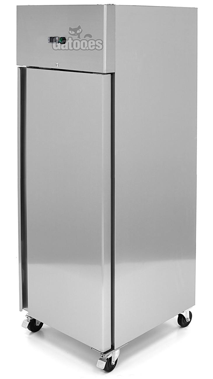 Congelador Vertical Profesional Lux 600 Litros Inox. Con Bandejas GN 2/1. Alto 200 x Ancho 68 cm.