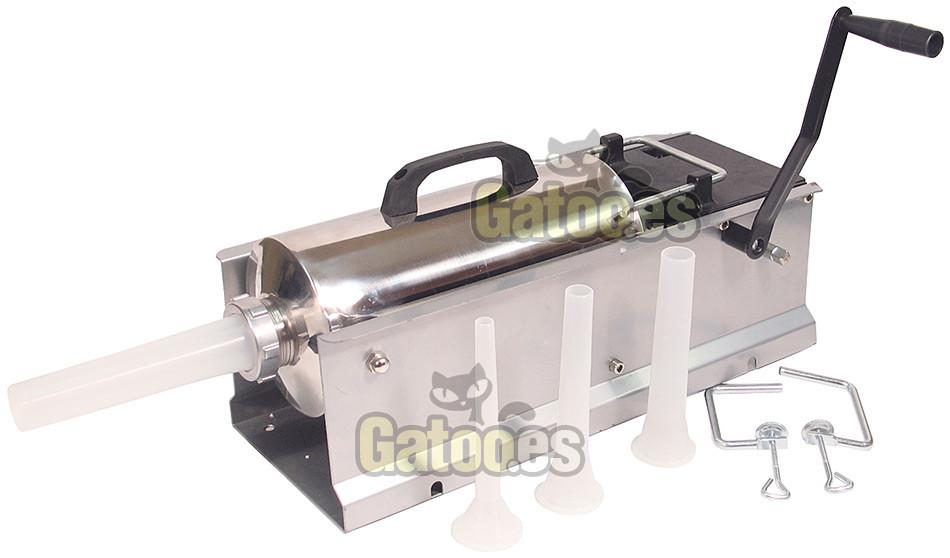 Embutidora Profesional Jumbo Inox para 8 Kilos