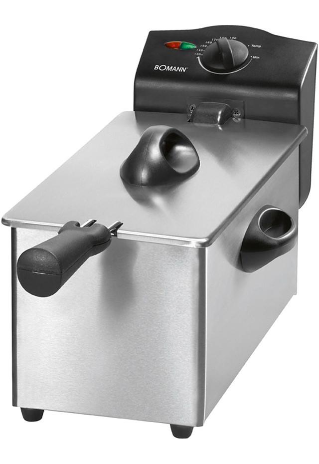 Freidora de acero inoxidable Clatronic de 3 litros con tapa