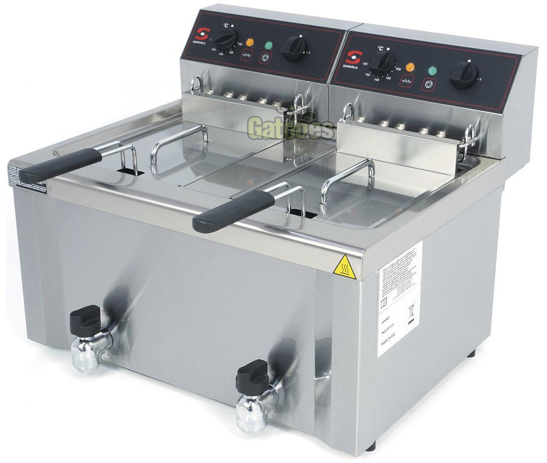Freidora industrial Sammic FE-12+12