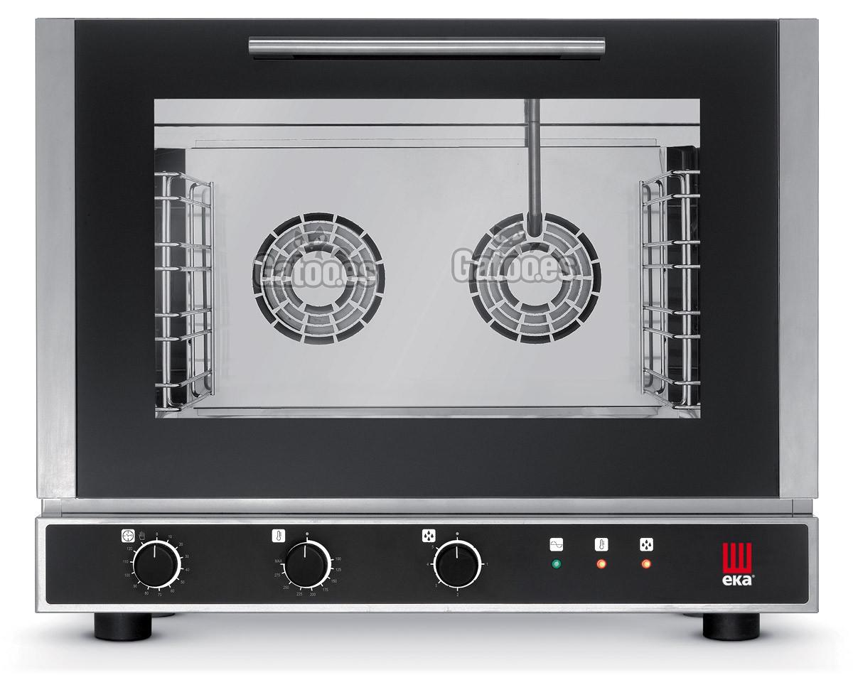Horno de Cocina profesional de 4 bandejas gastronorm 53x33 con vapor. EKA