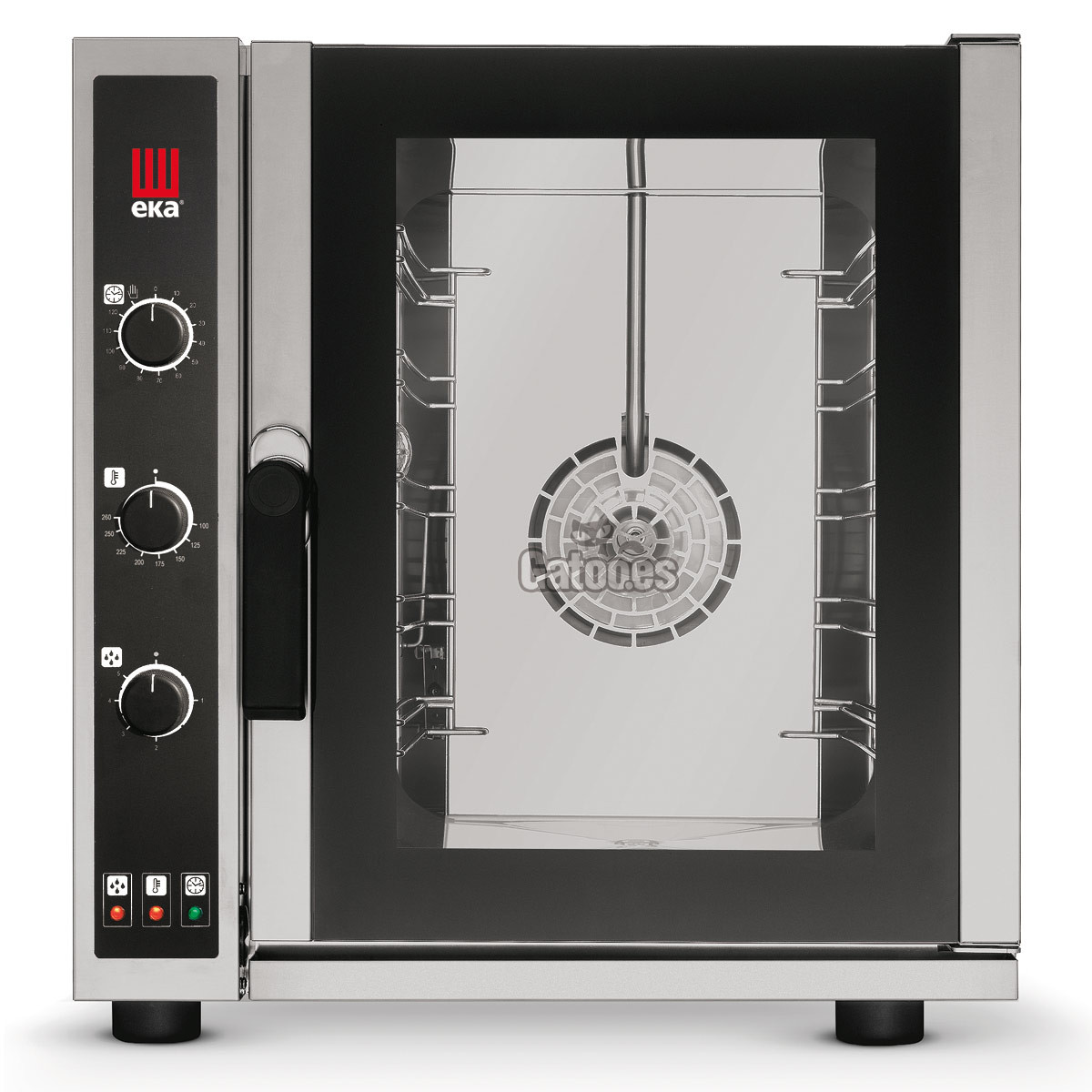 Horno de Cocina profesional de 5 bandejas gastronorm 35x33 con vapor. EKA