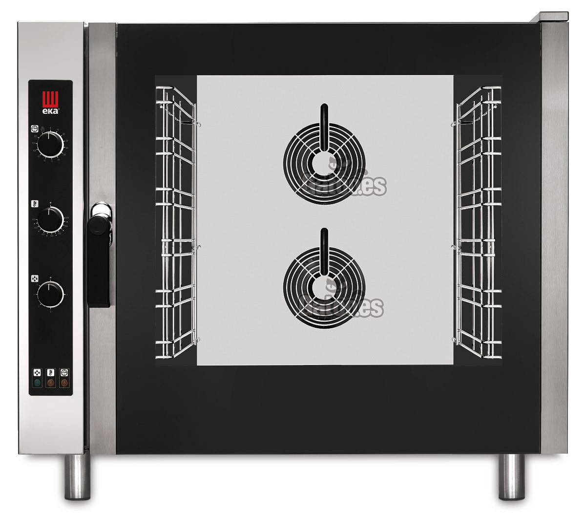 Horno para Paellas profesional de 6 bandejas gastronorm 65x53 con vapor. EKA