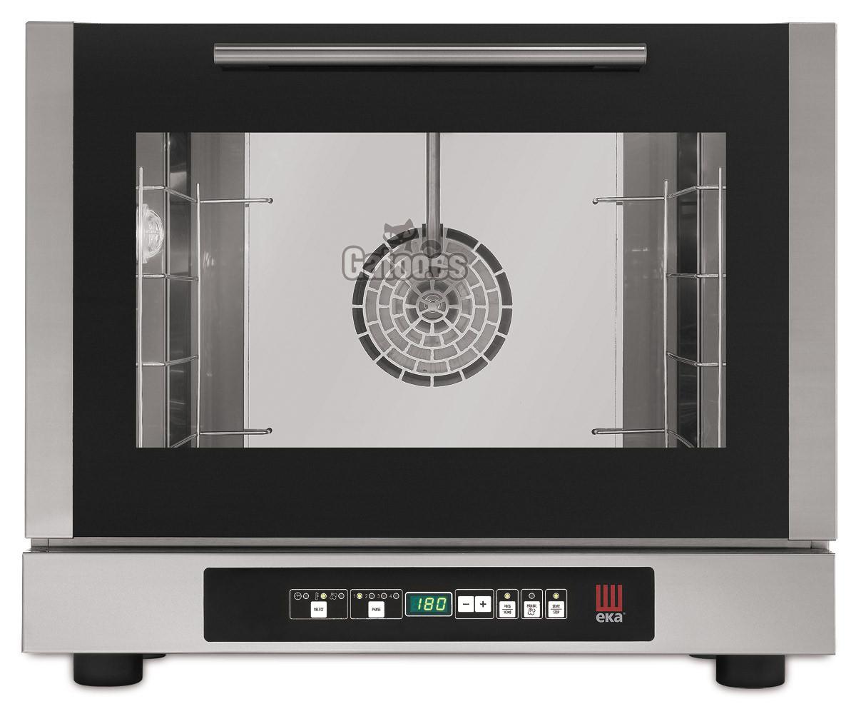 Horno digital para Pastelería y Panadería con 4 bandejas de 48x34 y con vapor. EKA