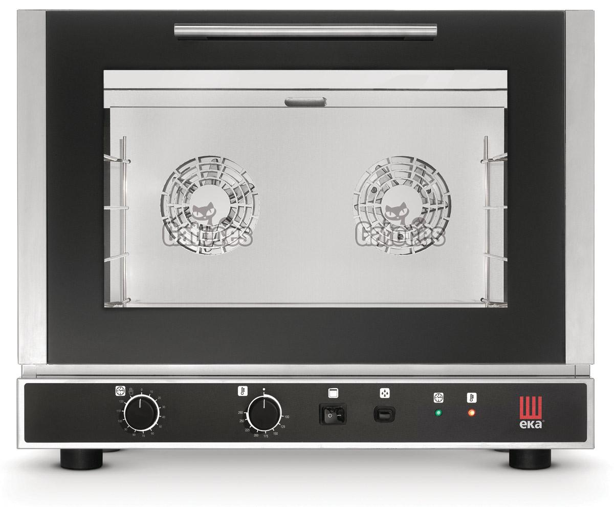 Horno de Cocina profesional con 4 bandejas de 60x40. Con Humidificación y Grill. EKA
