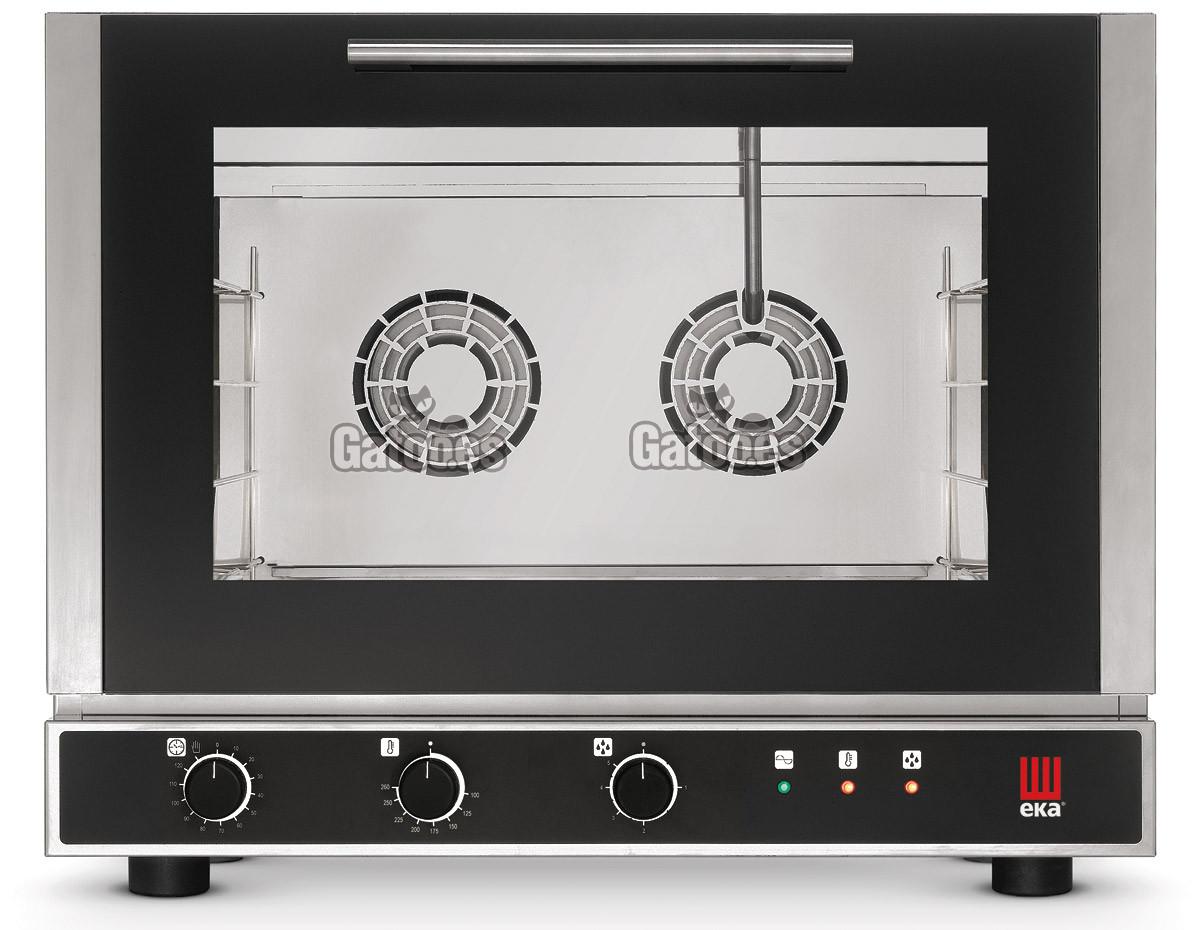 Horno para Pastelería, Panadería y Cocina con 4 bandejas de 60x40 y con vapor. EKA