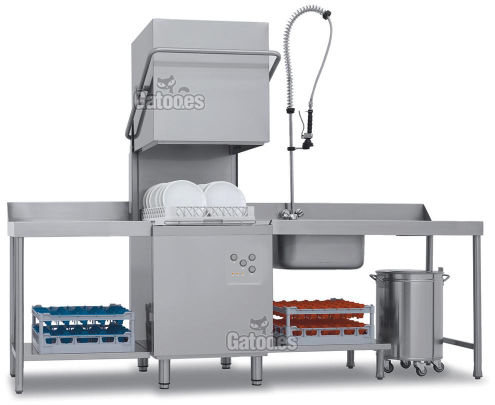Lavavajillas Industrial tipo Capota LVV80. Cesta de 50x50