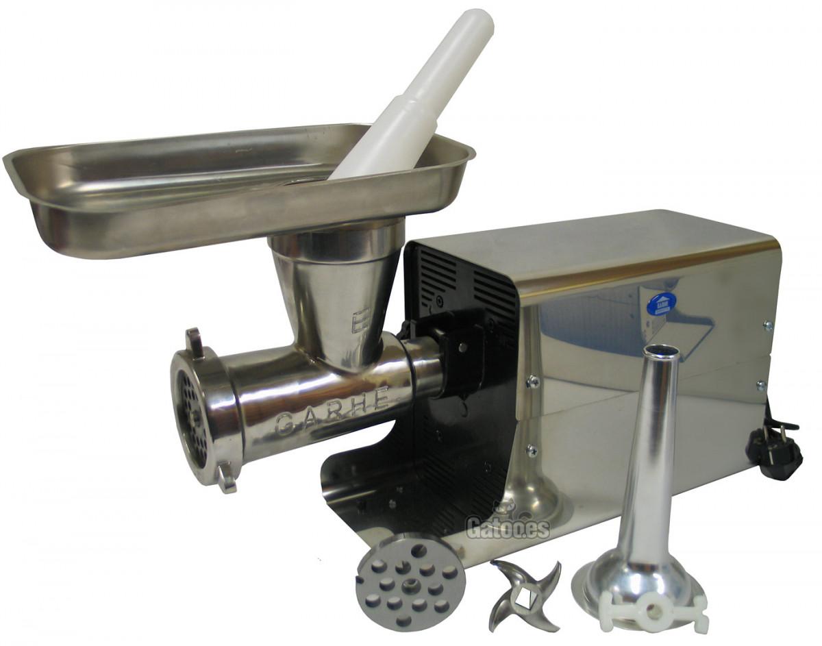 Picadora de Carne Profesional y Embutidora GARHE 004 (Cabezal 22 cm.)