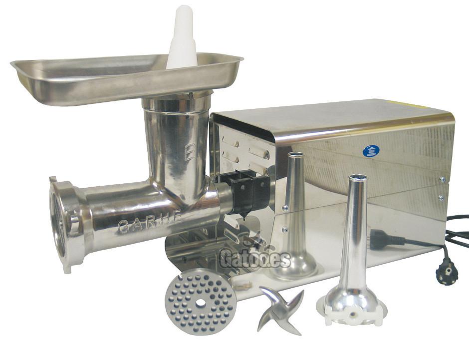 Picadora de Carne Profesional y Embutidora GARHE 009 (Cabezal 32 cm.)