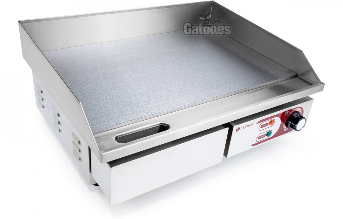 Plancha Eléctrica de Cocina Profesional Eltron. Ancho 55 cm