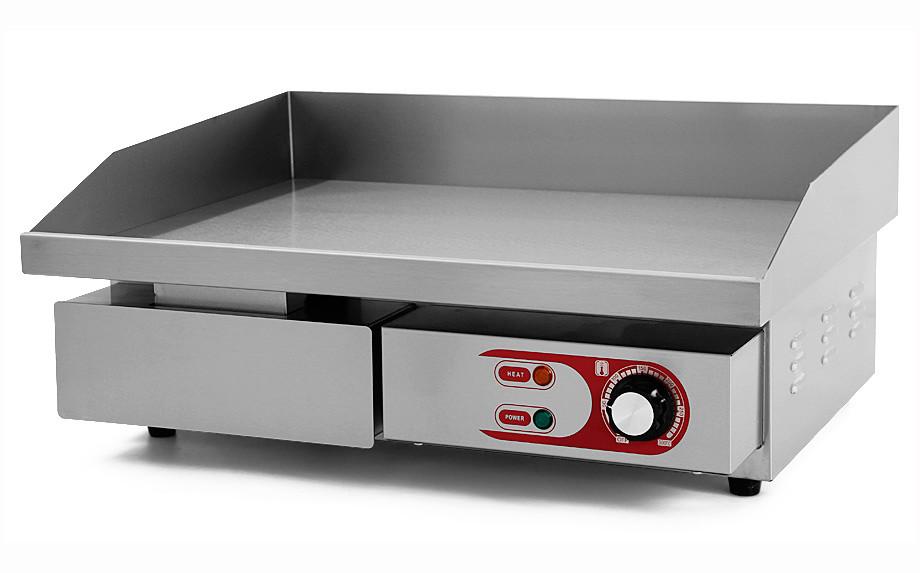 Plancha Eléctrica de Cocina Profesional Eltron. Ancho 55 cm. (de Cromoduro) (OUTLET Reacondicionado)