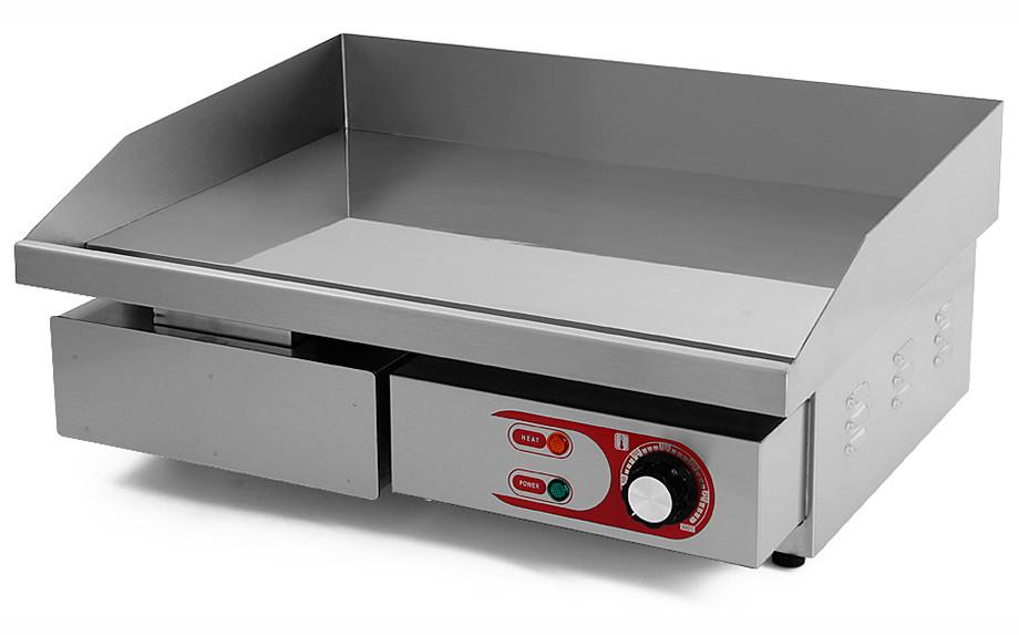 Plancha Eléctrica de Cocina Profesional Eltron. Ancho 55 cm. Cromoduro