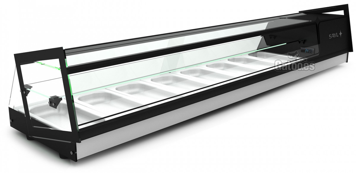 Vitrina para Tapas Refrigerada. Sayl Cube-8