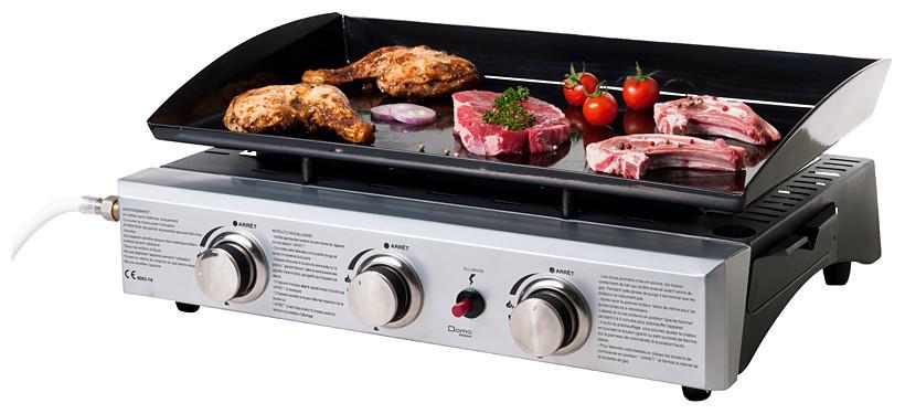 Plancha de cocina a gas butano o propano con 3 fogones for Outlet cocinas a gas