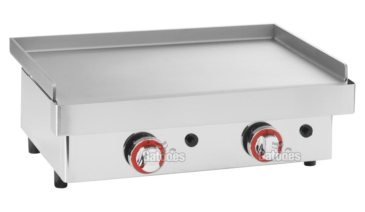 Plancha a gas profesional de 60 cm gatoo for Cocina gas profesional