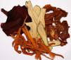Verduras deshidratadas en el Deshidratador de fruta y verduras con Termostato