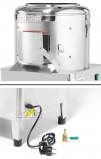 Detalle de Puerta, Conector y Válvula del Pelador de Patatas Profesional para 10 Kg. PXM10